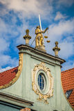 Statue of justice with scales and a sword in the historic center Stock Photography