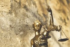 Statue of justice. royalty free stock image
