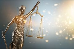 The statue of justice. Female judge justice police admonition attorney royalty free stock photo