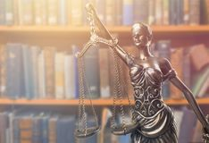 The statue of justice. Female judge justice police admonition attorney Stock Photography