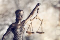 Statue justice. Law admonition attorney balance blind book stock image