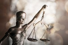 Statue justice. Law admonition attorney balance blind book stock photo