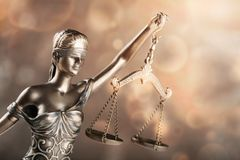 Statue justice. Law admonition attorney balance blind book stock photos
