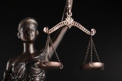 Statue of justice. Lawyer judge court litigation rule symbol royalty free stock photography