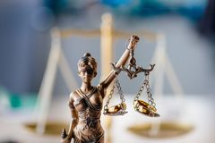 Statue of justice. Symbol of law and justice royalty free stock photography