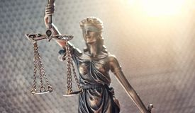 Statue of Justice symbol, legal law concept image stock photography