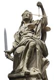 Statue of Justice. Weikersheim, Germany. Statue of Justice in Schloss Weikersheim, Germany royalty free stock photos