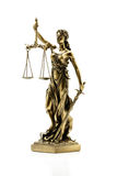 Statue of justice. On the white background Royalty Free Stock Image