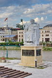 Statue of Justinian in city center of Skopje, Macedonia Royalty Free Stock Image