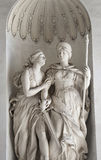 Statue Justitia et Clementia in Hofburg, Vienna Stock Photo