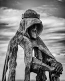 Statue Königs Arthur, Tintagel, Cornwall stockbild