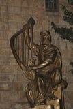 Statue Königs David in der alten Stadt von Jerusalem Lizenzfreies Stockbild