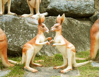 Statue Kangaroos Stock Photos