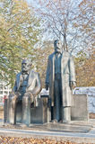 Statue of Karl Marx and Friedrich Engels at Berlin, Germany Stock Image