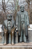 Statue of Karl Marx and Friedrich Engels near Alexanderplatz Stock Images