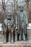 Statue of Karl Marx and Friedrich Engels near Alexanderplatz Stock Images