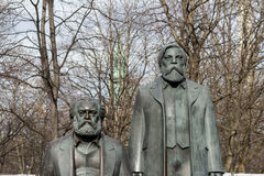 Statue of Karl Marx and Friedrich Engels near Alexanderplatz Royalty Free Stock Photos