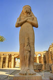 Statue at Karnak temple. Large statue inside the temple of Karnak Royalty Free Stock Image