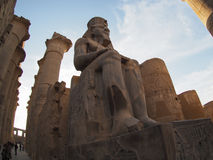 Statue in Karnak temple in  Luxor, Egypt Stock Images