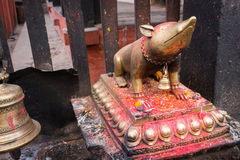 Statue in the Kathmandu Stock Photography
