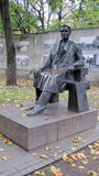 Statue of Kazys Grinius- President Lithuania (17 December 1866 – 4 June 1950). Statue of Lithuania President - Kazys Grinius in Kaunas town. He was the stock photography