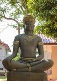 Statue for Khmer deva sitting Stock Photo