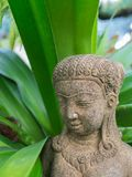 Statue of Khmer Fairy. In The Garden Stock Photos
