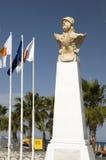Statue Kimon the Athenian promenade Larnaca Cyprus royalty free stock images