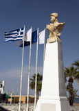 Statue Kimon the Athenian seaside Larnaca Cyprus Stock Images