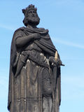 Statue of King. Detail view of king statue in Prague. Czech Republic royalty free stock photo