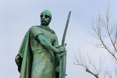 Statue of king Afonso Henriques. Guimaraes. Portugal Royalty Free Stock Image