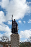 Statue of King Alfred the Great in Winchester. Royalty Free Stock Photos