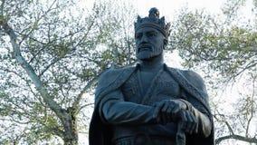 Statue of King Amur Timur. Steady, medium close up shot of a statue of King Amur Timur stock video