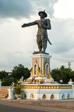 Statue of king Anouvong in Vientiane, Laos Stock Images