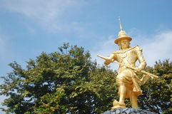 Statue of King Bayint Naung or Bayinnaung Kyawhtin Stock Photo