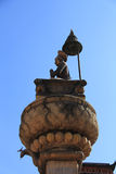 Statue of King Bhupatindra Malla at Bhaktapur Durbar Square Stock Photography