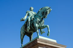 Statue of king Carl Johan in Oslo Stock Photography