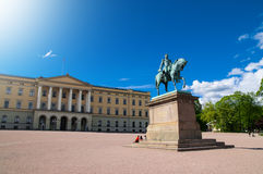Statue of King Carl XIV Johan in Oslo, Norwa Royalty Free Stock Photos