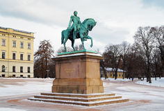 Statue of King Carl XIV Johan in Oslo, Norway Royalty Free Stock Photo