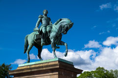 Statue of King Carl XIV Johan in Oslo, Norway Royalty Free Stock Images