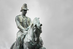 Statue of King Carlo Alberto of Sardinie in Quirinale Gardens in Royalty Free Stock Image