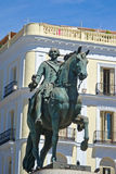 Statue of King Carlos III, at Puerta del Sol, MAdrid Royalty Free Stock Image