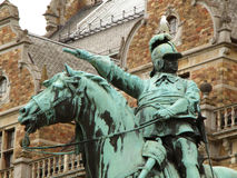 Statue of King Charles X Gustaf in front of Nordic Museum Nordiska museet in Stockholm Stock Photos
