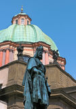 Statue of King Charles IV in Prague Stock Image