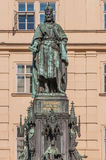 Statue of King Charles IV in Prague Stock Photography
