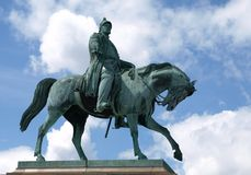 A statue of King Christian VII Stock Photography