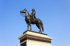 Statue of King Chulalongkorn (Rama V). The equestrian statue of King Chulalongkorn (Rama V) in Bangkok, Thailand Royalty Free Stock Images