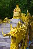 Statue of king of dava on Chinese faith Royalty Free Stock Image