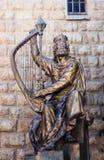 Statue of King David, Jerusalem, Israel Stock Images