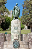 Statue of King Dom Afonso Henriques in Guimaraes Royalty Free Stock Photo